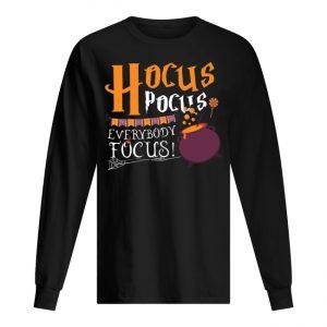Hocus pocus everybody focus Halloween Men's Long Sleeved