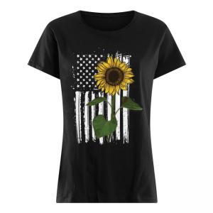 SunFlower America Flag Women's Shirt