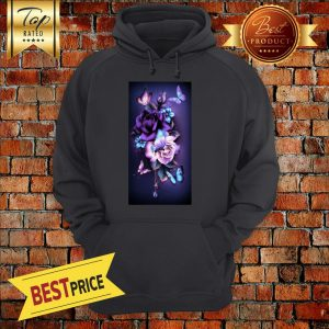 Butterfly And Black Roses Flowers Magical Hoodie