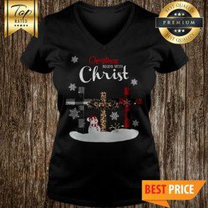 Christmas Begins With Christ V-Neck