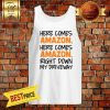Here comes Amazon, Here comes Amazon, Right Down My Driveway Hippie Runner Tank Top