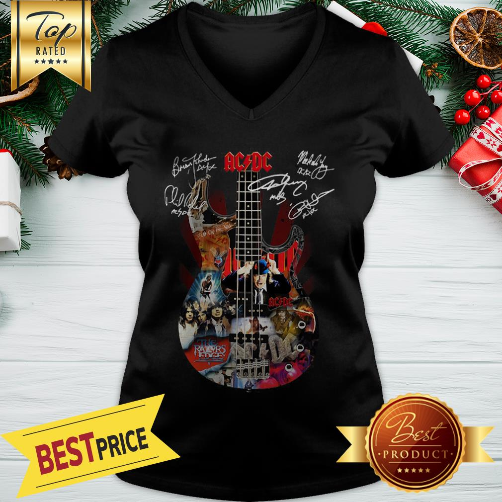 Official ACDC Guitarist Signatures V-neck