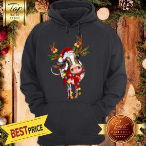 Cow Gorgeous Reindeer Crewneck Hoodie