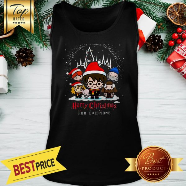 Harry Potter Characters Chibi Harry Christmas For Everyone Christmas Tank Top