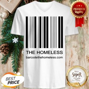 Bar Code Because We Care The Homeless V-neck