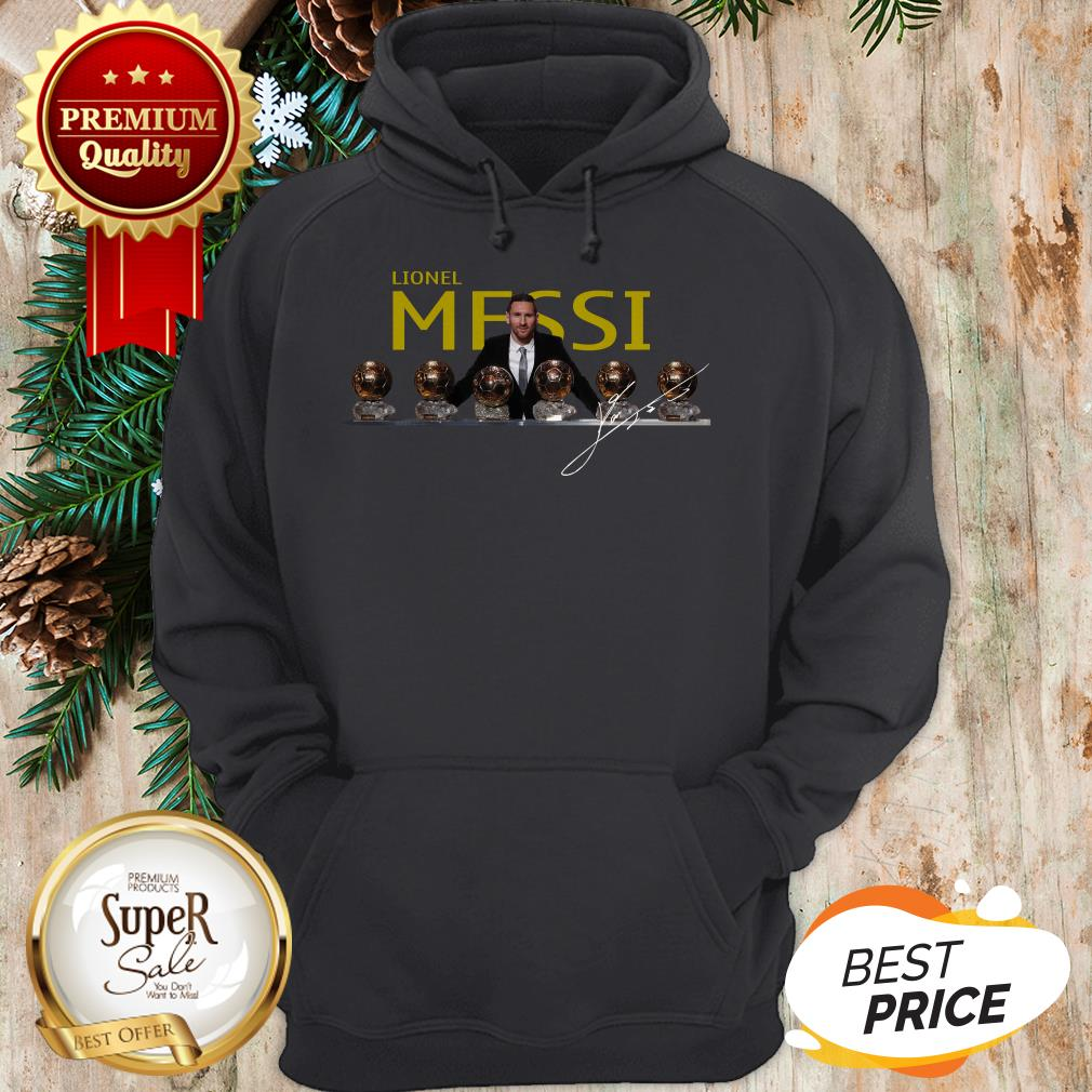 Nice Lionel Messi 2019 D'or Ballon Signature Hoodie