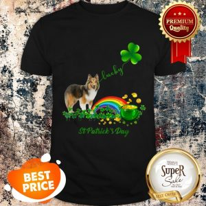 Lucky Saint Sheltie Dog Shamrock St Patrick Day Shirt