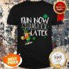Marathon Running St Patricks Day Funny Race 5k Runner Gift Shirt