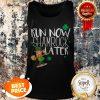Marathon Running St Patricks Day Funny Race 5k Runner Gift Tank Top