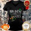 Marathon Running St Patricks Day Funny Race 5k Runner Gift V-neck