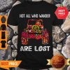 Nice Hippie Jeep Not All Who Wander Are Lost Shirt