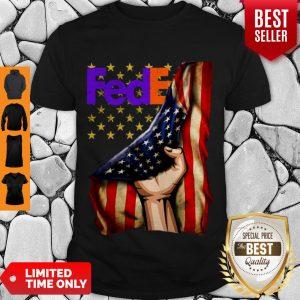 Official FedEx Logo American Flag Shirt