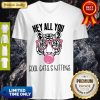Awesome Tiger Hey All You Cool Cats And Kittens Pink Bubble V-neck