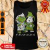 Friends Grinch And Snoopy Light Christmas Tank Top