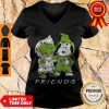Friends Grinch And Snoopy Light Christmas V-neck