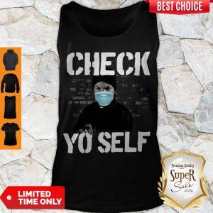Ice Cube Wear Mask Check Yo Self Before You Wreck Yo Self Tank Top