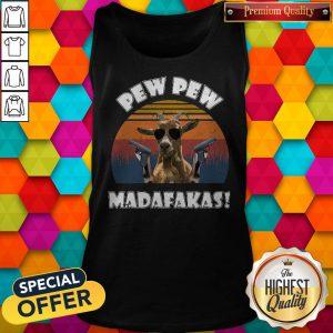 Nice Goat Pew Pew Madafakas Vintage Tank Top