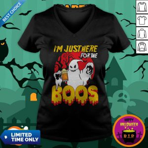 I'm Just Here For The Boos Beer Halloween V-neck