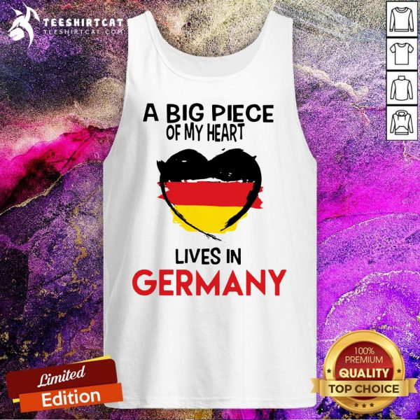 A Big Piece Of My Heart Lives In Germany Tank Top - Design By Teeshirtcat.com