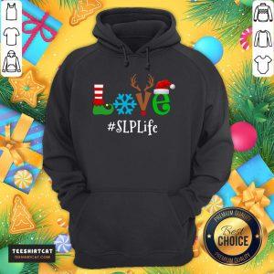 Official Love Snow Elf Reindeer SLP Life Christmas Hoodie- Design By Teeshirtcat.com