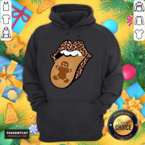 Top Christmas Mouth Tongue Lips Gingerbread Cookie Man Christmas Hoodie - Design By Teeshirtcat.com