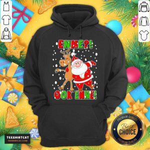 Santa Claus And Reindeer Enne Ook Enne Christmas Sweater Hoodie- Design By Teeshirtcat.com