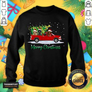 Poodle Red Car Truck Christmas Tree Funny Santa Xmas Dog Poodle Red Car Truck Christmas Tree Fu T-Sweatshirt- Design By Teeshirtcat.com