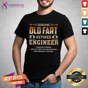 Top Genius Old Fart Retired Engineer Shirt