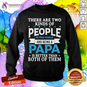 There Are Two Kinds Of People Being Papa Sweatshirt